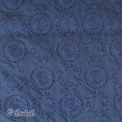 Tecido Azul/Rede floral
